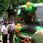 पटना में 50 नई सी एन जी बसों का परिचालन शुरू , बेली रोड पर नहीं चलेगी डीजल बसें