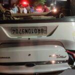 पटना के बेली रोड पर कार पलटी , चालक गम्भीर रूप से घायल